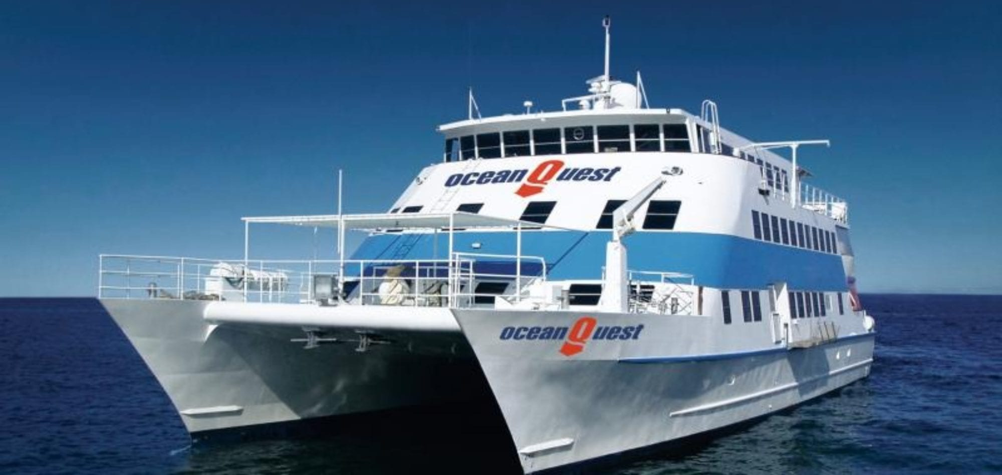 Cairns liveaboard scuba diving - OceanQuest boat