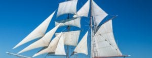 Solway Lass - a traditional tall-ship vessel with modern comforts of air conditioning and private cabins